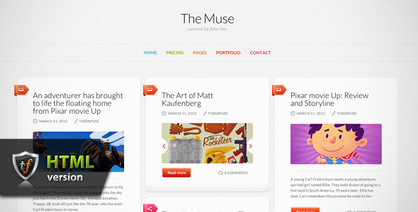 ThemeForest The Muse Inspiration HTML Theme 4557126