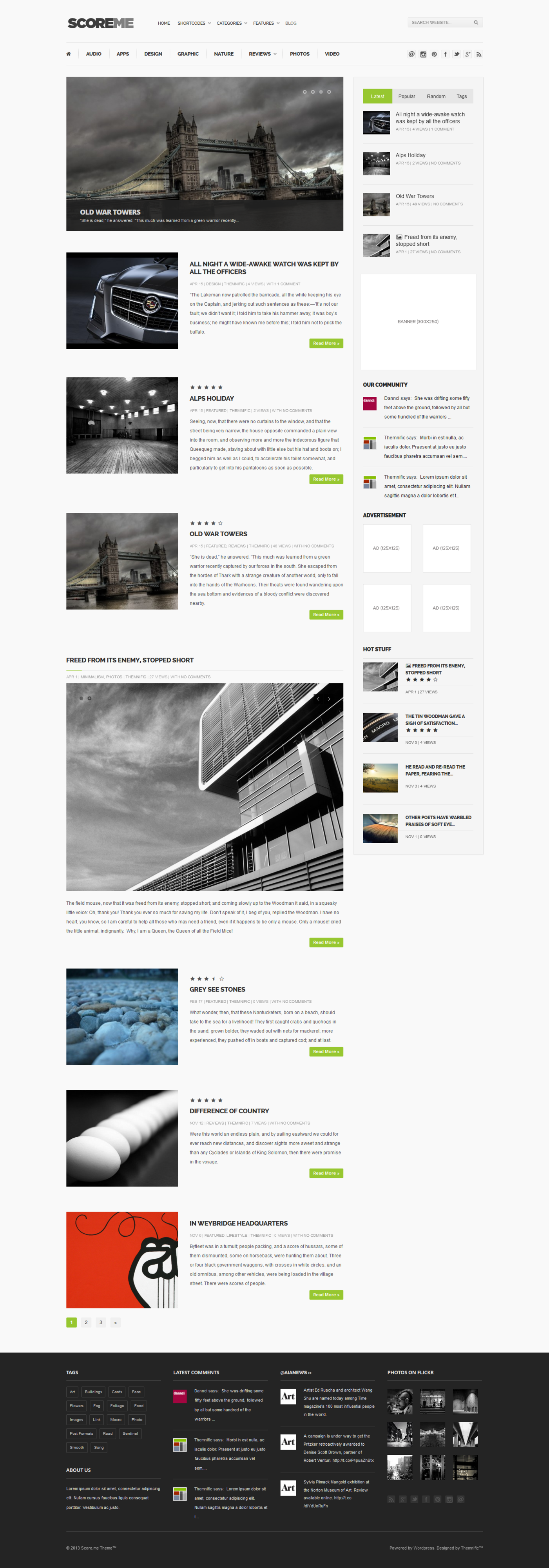 Scoreme  Rating & Responsive Magazine/Blog Theme