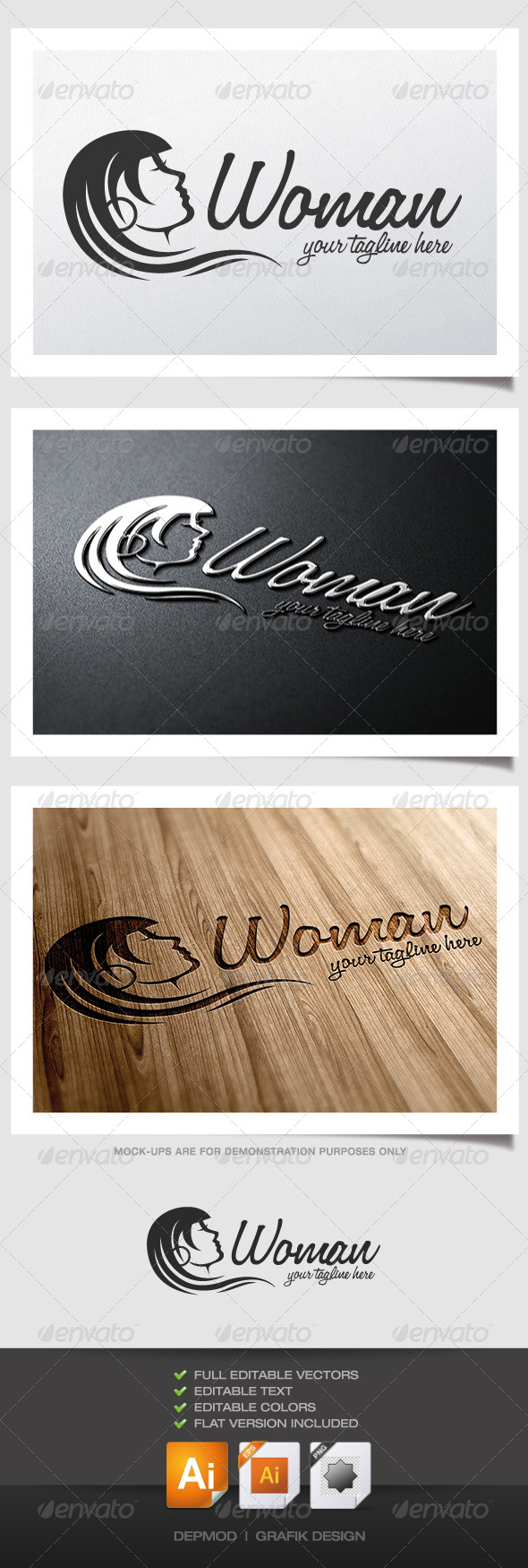 GraphicRiver Woman Logo 4558491