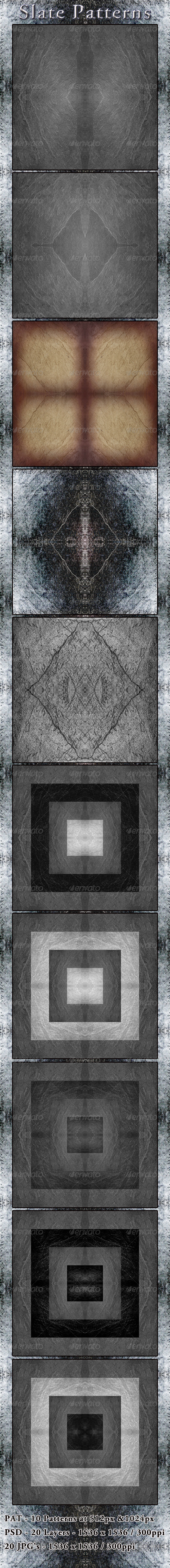 GraphicRiver 10 Slate Patterns 4515595