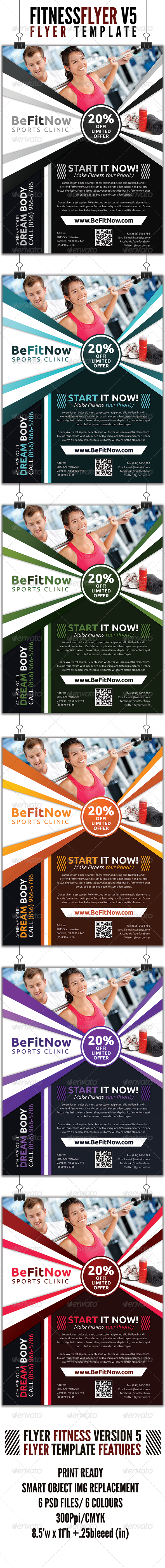 GraphicRiver Fitness Flyer V5 4559011