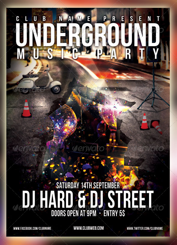 GraphicRiver Underground Party Flyer 4485748