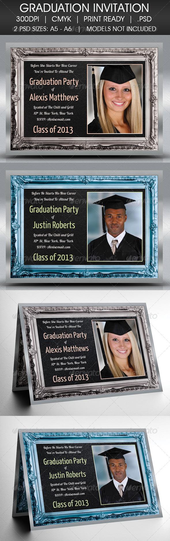 GraphicRiver Graduation Party Degree Invitation 4385890