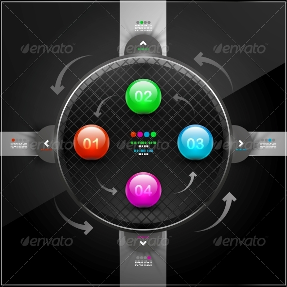 GraphicRiver Abstract Detailed Infographics with 4 Options 4560380