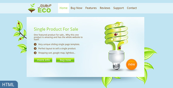 Jump Eco HTML - Slider - Single product shop - Environmental Nonprofit