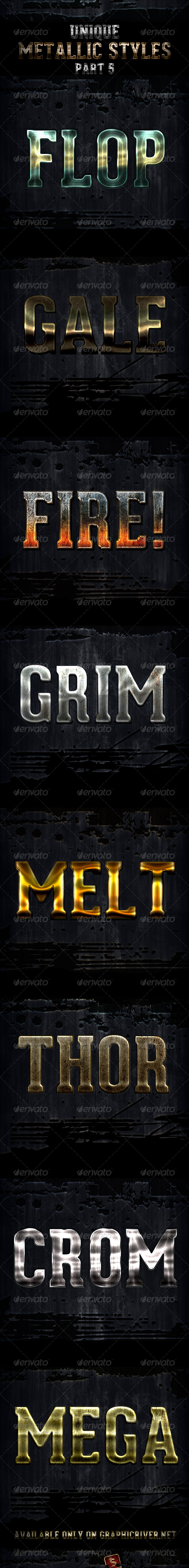 GraphicRiver Unique Metallic Styles Part 5 4561194