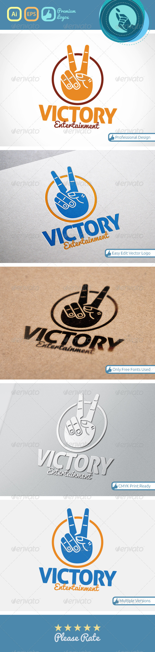 GraphicRiver Victory Logo 4534293
