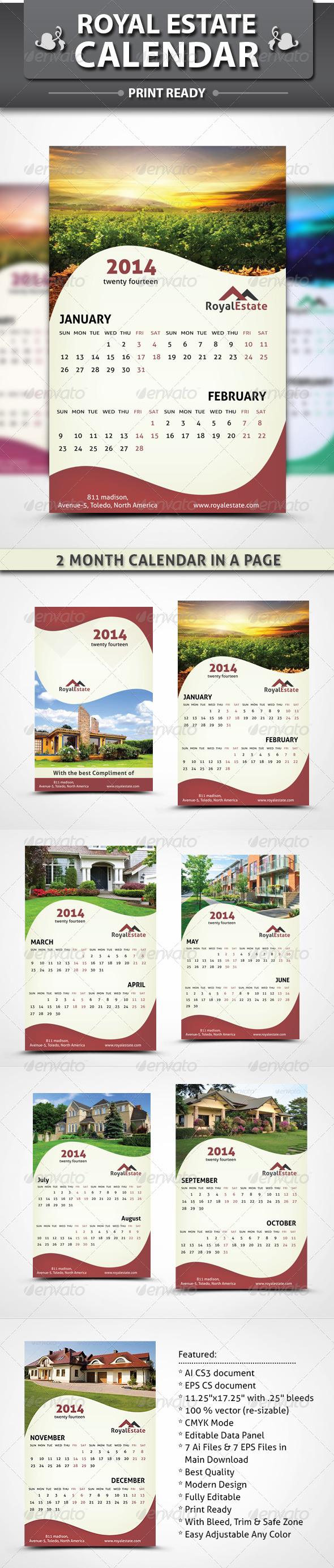 GraphicRiver Royal Estate Calendar 4561667