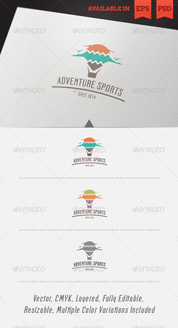 GraphicRiver Adventure Sports Logo Template 4561704