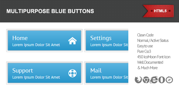 Multipurpose Blue Buttons - CodeCanyon Item for Sale