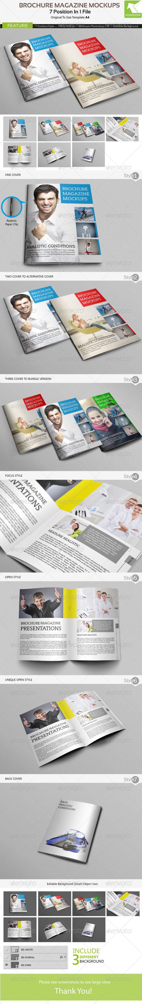 GraphicRiver Brochure Magazine Mockups 4562355