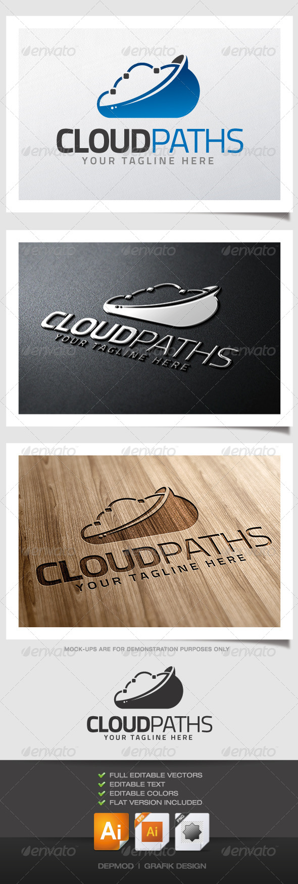 GraphicRiver Cloud Paths logo 4562683