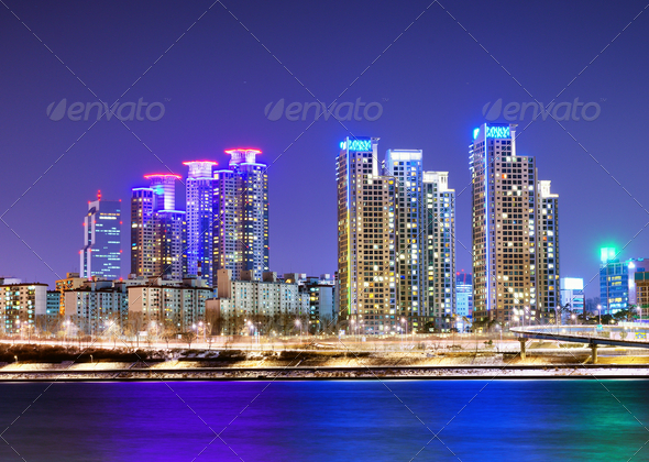 Han RIver in Seoul - Stock Photo - Images