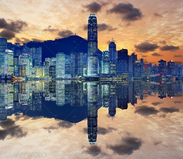 Hong Kong Skyline - Stock Photo - Images