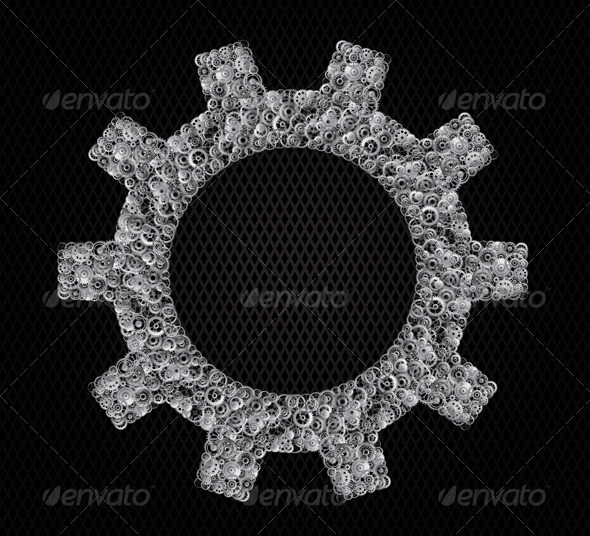 GraphicRiver Gear made of Gears 4563614
