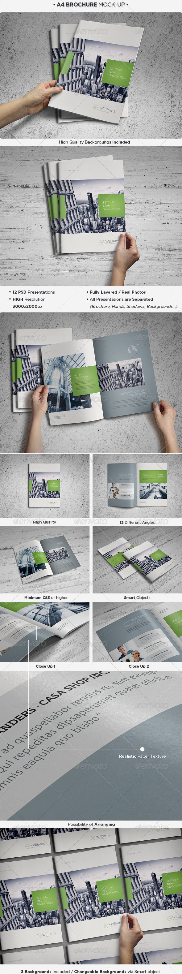 A4 Brochure / Catalog Mock-Up - Brochures Print
