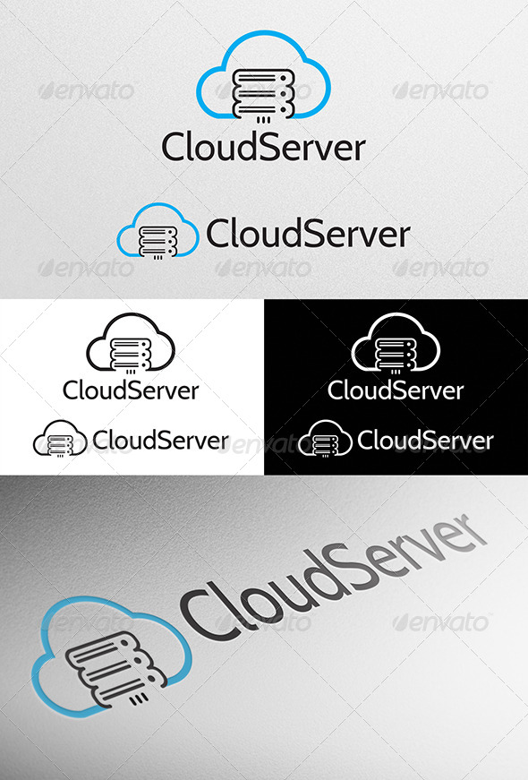 GraphicRiver Cloud Server Logo 4527699