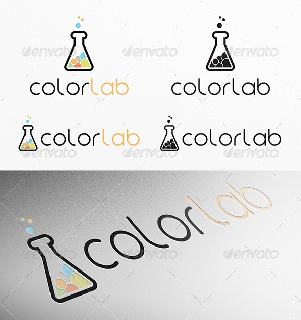 GraphicRiver Color Lab Logo 4531804