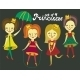 Set of 4 Colorful Princesses - GraphicRiver Item for Sale