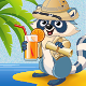Raccoon Explorer Mascot - GraphicRiver Item for Sale