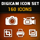 Digicam Vector Icon Set - GraphicRiver Item for Sale