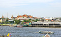 Grand palace and the city of Bangkok along Chao Praya River - PhotoDune Item for Sale