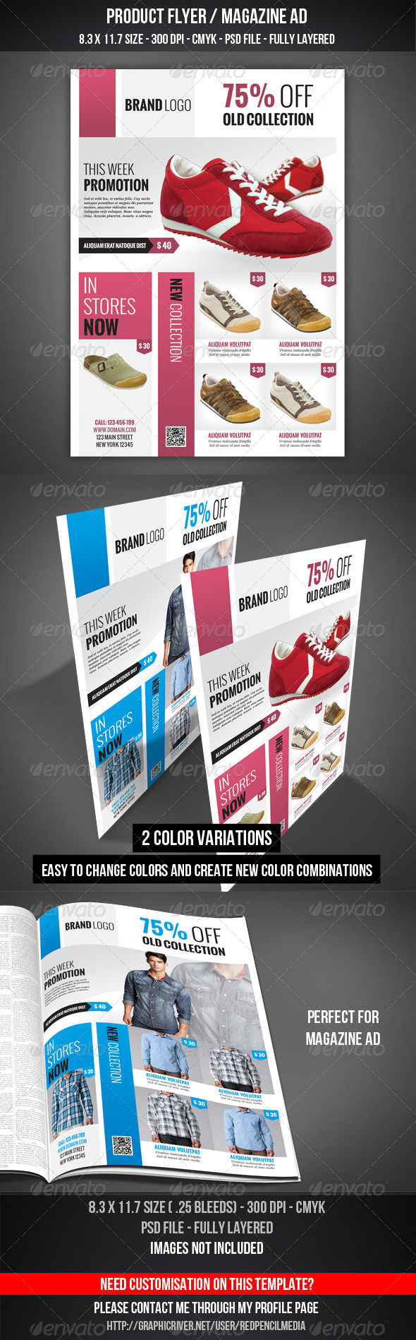 GraphicRiver Product Flyer Magazine AD 4564634