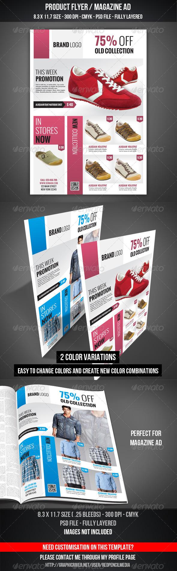 GraphicRiver Product Flyer Magazine AD 4564634