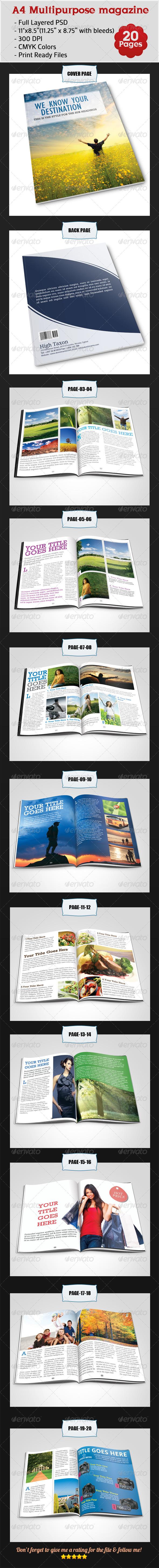 GraphicRiver A4 Multipurpose Magazine 4565297
