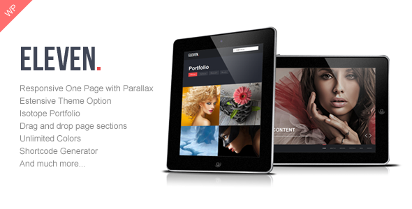 ThemeForest Eleven Wordpress Responsive One Page Parallax 4565464