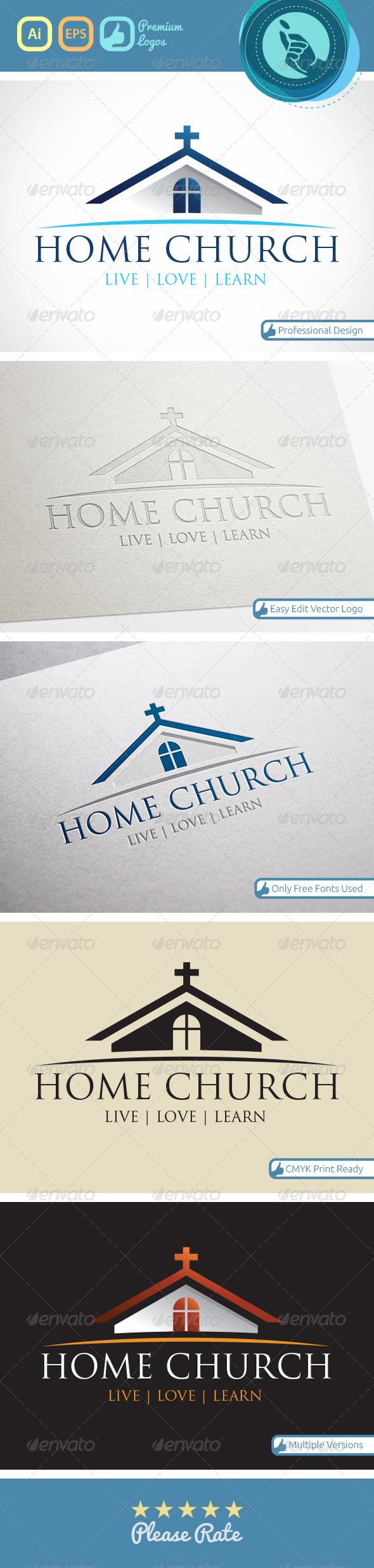 GraphicRiver Home Church logo 4543341