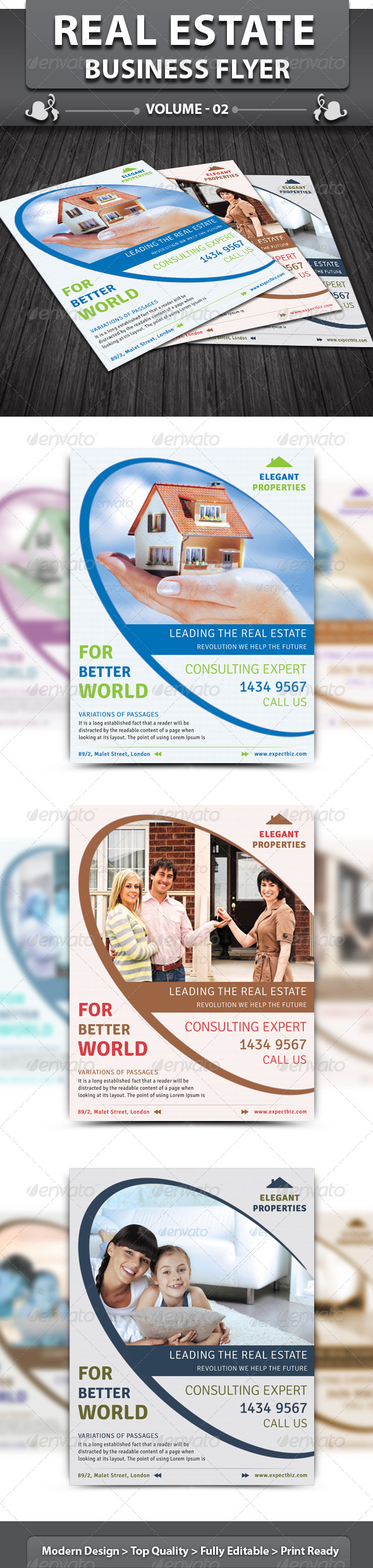 Real Estate Business Flyer | Volume 2 - Corporate Flyers