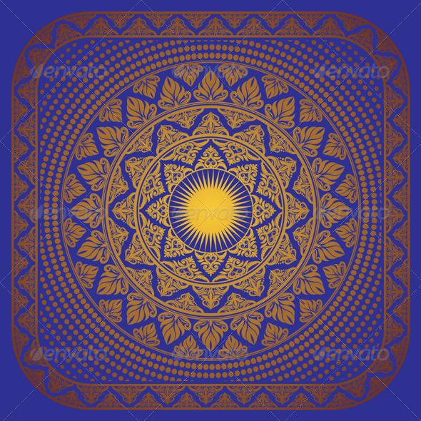 GraphicRiver Sun Ornament Frame 4566070