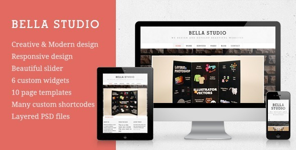 ThemeForest Bella Studio Creative Portfolio Wordpress Theme 4552135