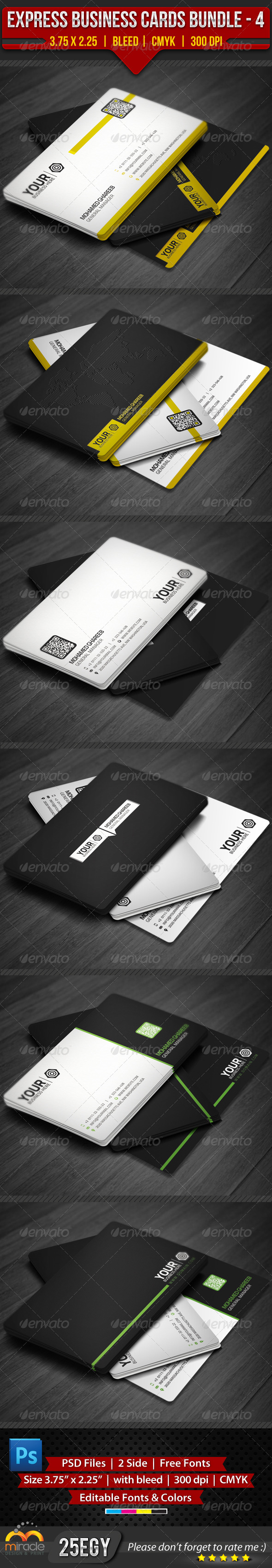GraphicRiver Express Business Cards Bundle 4 4566218