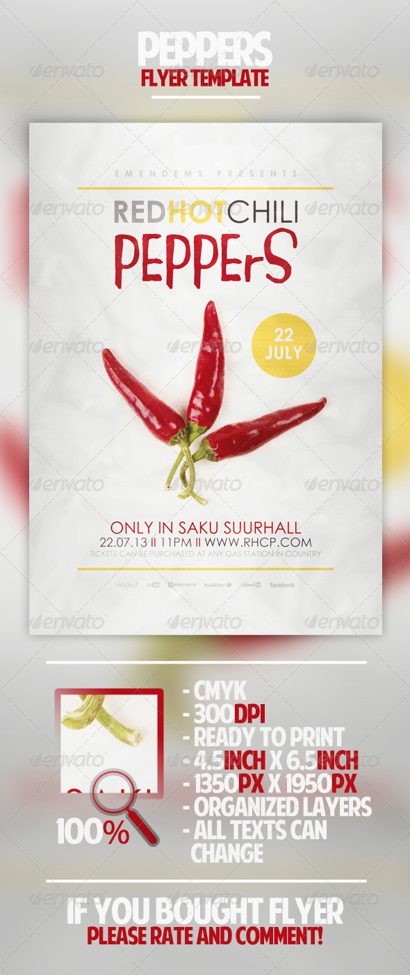 GraphicRiver Peppers Flyer Template 4566394