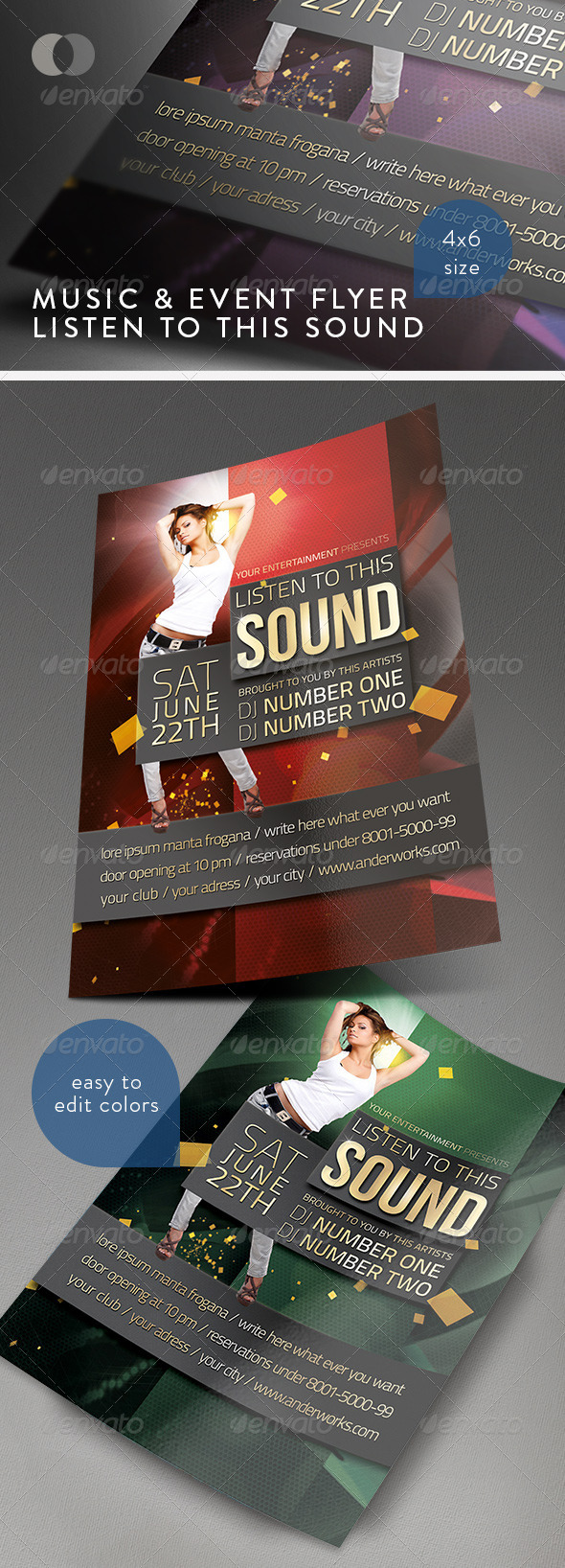 Music & Event Flyer - Listen to this Sound - Clubs & Parties Events