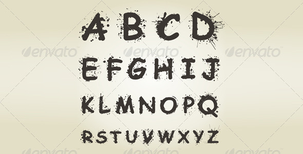 GraphicRiver Alphabet Blot 4475661