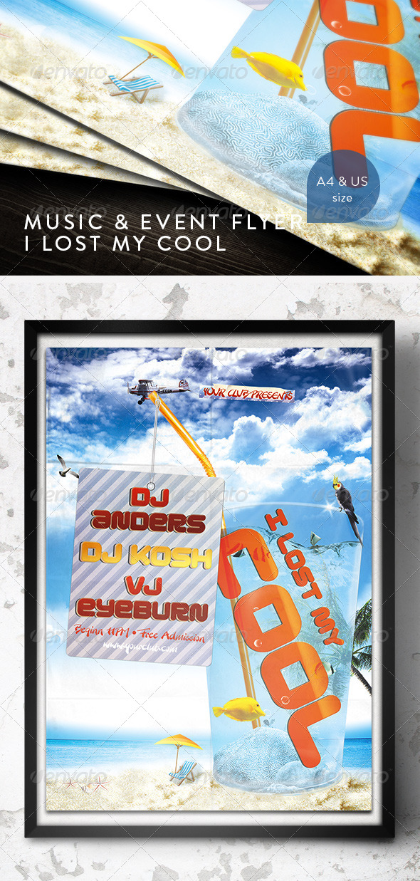 Music & Event Flyer - I lost my cool! - Clubs & Parties Events