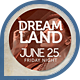 Music &amp;amp; Event Flyer - Dreamland 2 - GraphicRiver Item for Sale