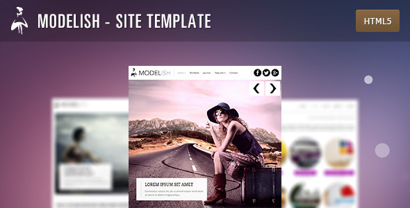 Modelish - HTML5 Site Template - Photography Creative