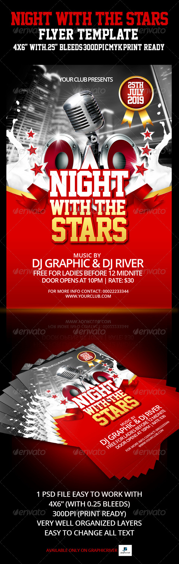GraphicRiver Night With The Stars Flyer Template 4258078