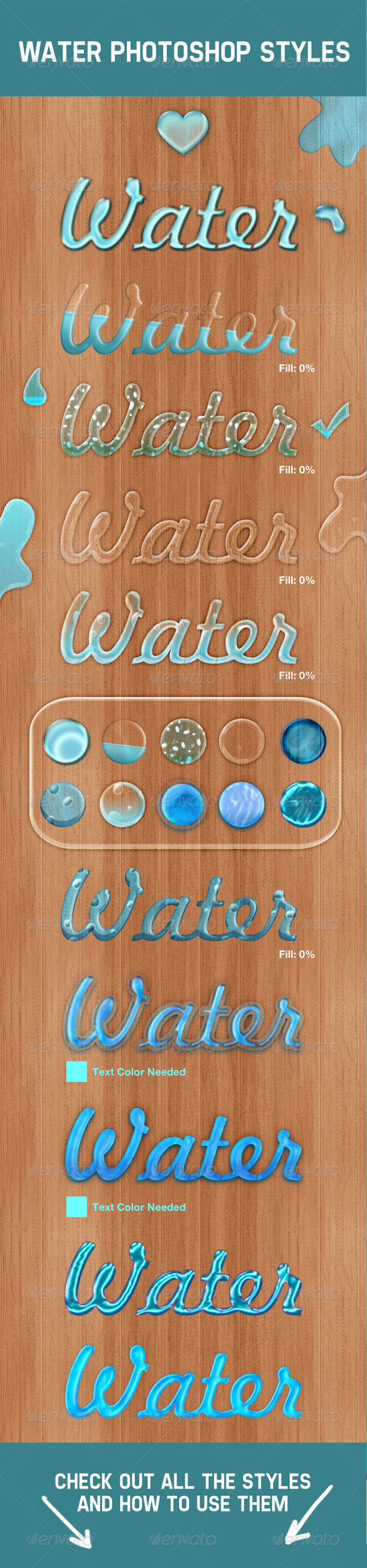 GraphicRiver Water Photoshop Layer Styles 4430078