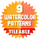  9 Tileable Watercolor Patterns - GraphicRiver Item for Sale