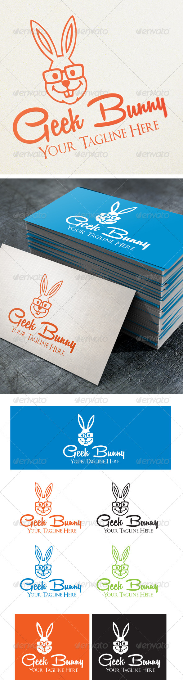GraphicRiver Geek Bunny 4569684