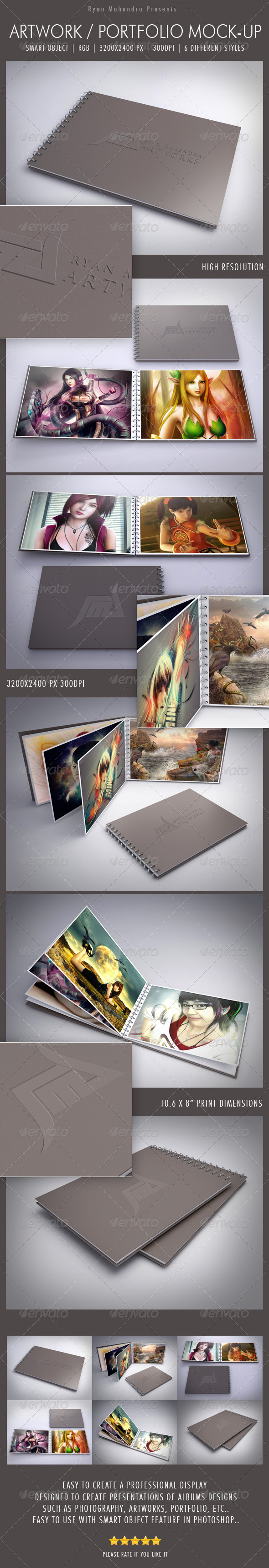 GraphicRiver Artwork Portfolio Mock-Up 4571084