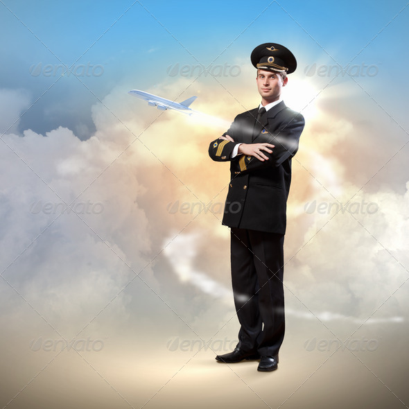 Image of male pilot - Stock Photo - Images