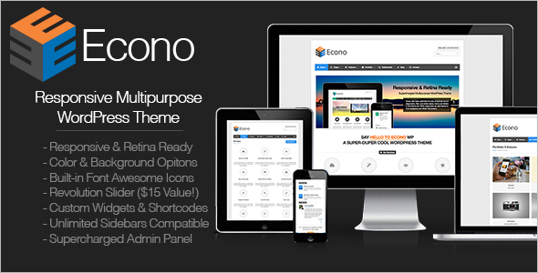 Econo - Retina Responsive Multi-Purpose WP Theme