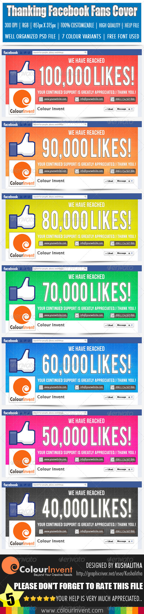 GraphicRiver Thanking Facebook Fans Cover 4571478