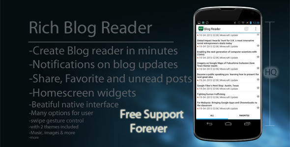 CodeCanyon Rich Android Blog Reader 100% Native 4572425